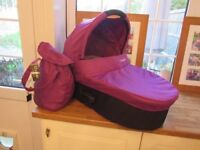 Oyster Carry Cot with free colour pack (black) never used