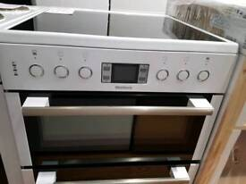 New Scratch N Dent 60cm (Excellent Condition) Blomberg HKN63W White Ceramic Cooker
