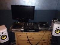 Dj setup. Pioneer CDJ850decks, Pioneer DJM700mixer, KRK rockit5 speakers, Technics headphones ect.