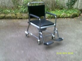 TWO Disability Aids = Camode , also Wheeled Tea Trolley .