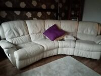 White leather sofa in very good condition for sale