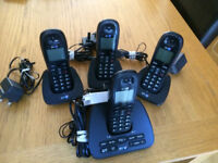 BT 1500 Cordless DECT Phone With Answer Machine (Pack Of 4 - 3 Additional Handsets)