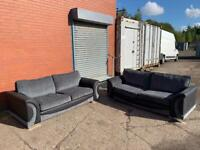 ScS Grey & Black Sofas delivery 🚚 sofa suite couch furniture