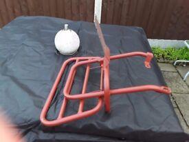 Back rack for vespa