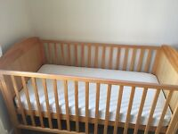 For sale cot bed and baby changing table
