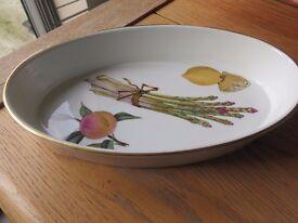 Royal Worcester Evesham Oval Casserole Dish