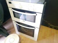 White Bosch double electric oven
