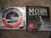 """""""Moon Landing"""" pop up and """"One Small Step"""" hardback books - £6"""