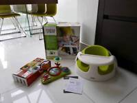 SOLD - Mamas & Papas baby snug chair and play tray lime green boxed excellent condition