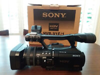 Sony HVR-V1E video camera with PortaBrace cover