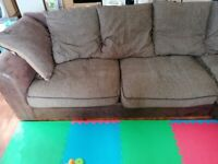 Corner Sofa with Swivel Chair and Pouffe