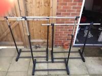 Metal clothes rails