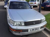 Lexus LS 400 automatic transmission 1993 facelift model 4 door saloon mot July one owner