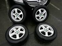 SET OF 15 INCH SKODA 5x100 ALLOYS WITH TYRES GENUINE