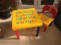 Toddlers table & chairs