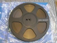 10.5 inch spools - 3 X 4200ft Agfa PE36 1/4 inch reel-to-reel tapes with plastic library cases
