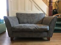 MARKS AND SPENCER BARLETTA LOVE SEAT AND FOOT STOOL used