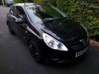 Vauxhall corsa. 1.2 club. Black