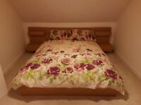 IKEA Double Bed and Sultan Mattress and Cover