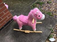 Pink rocking horse with sounds