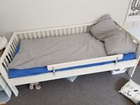 White Ikea Gulliver Bed Frame 76cm x 160cm, gently used from dog free, smoke free home.