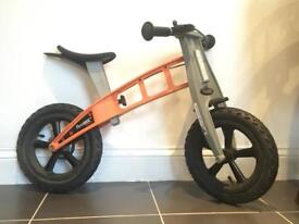 First Bike with 'LowKit' lowering kit. The best balance bikes for kids.