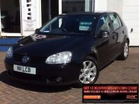 2004 54 VOLKSWAGEN GOLF 2.0 GT TDI*LOW MILES*6 STAMPS*BLACK*5 DR*