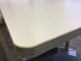 Plywood laminated in wonderful colours table tops- kitchen doors and drawer fronts made to order