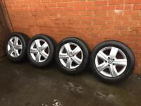 "Volkswagen T5/ Caravelle Genuine 17"" thunder alloys with tyres"