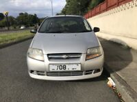 Chevrolet kalos for sale, very low mileage, 2 former keepers, MOT, drives perfect.