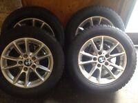 BMW Alloy wheels Winter tyre complete and spare