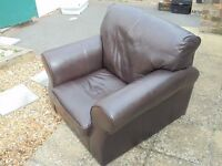Brown leather Armchair for sale.