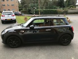 "1.5 Mini Cooper Hatch, Midnight black with low mileage. 17"" black alloy wheels, full service history"