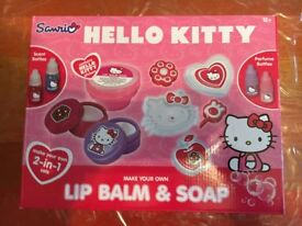 Hello Kitty Make Your Own Lip Balm and Soap Playset