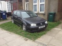 VW Golf 2.0gti mk4, 8v, 115bhp, manual, black, 3 door, Vreg Nov`99. Been offroad/unused for 6yrs .