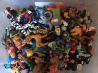 Assortment of toy figures