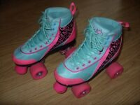 Kids / Girls Roller Boots by Luscious Skates - Size 2 / EU 34 - Good Used Condition