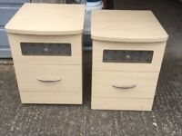 Light wood effect bedroom furniture good condition
