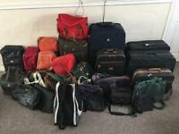 Suitcases and bags Job lot over 30+ items
