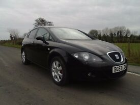 07 seat leon 1.9 tdi stylance t diesel 5 dr black just serviced full mot