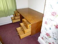 Office Desk. Solid wood in reasonable condition