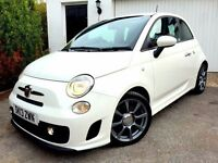 **VERY LOW MILES** 2013 FIAT 500 ABARTH WHITE 1.4 TURBO PETROL 5 SPEED MANUAL 3 DOOR HATCHBACK SPORT