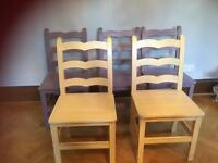 Large wooden chairs x6