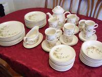 66 PIECES MARKS & SPENCER HARVEST POTTERY TABLEWARE ~ PLATES ~ BOWLS ~ TEA SET