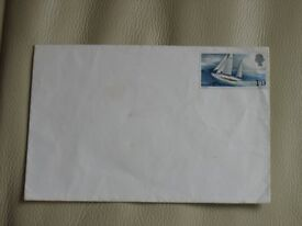 Commerative Stamp - SIR FRANCIS CHICHESTER - GYPSY MOTH - 1/9P - round the world, stamp on envelope