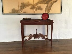 Stunning reproduction fretwork table