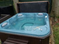 6 Seater hot tub.
