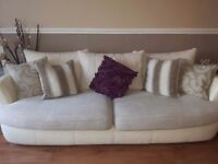 Dfs 3 seater sofa, chairs and pouffe
