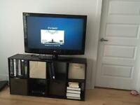 Bookcase using as TV stand