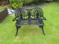 Aluminium diecast black garden bench